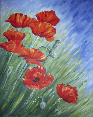 More Poppies by Mary Newman by Mary Newman