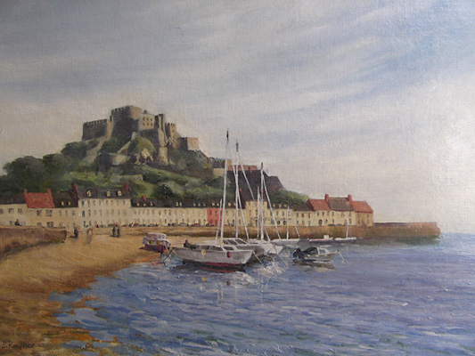Mont Orgueil, Isle of Jersey by Bryan Raynor by Bryan Raynor